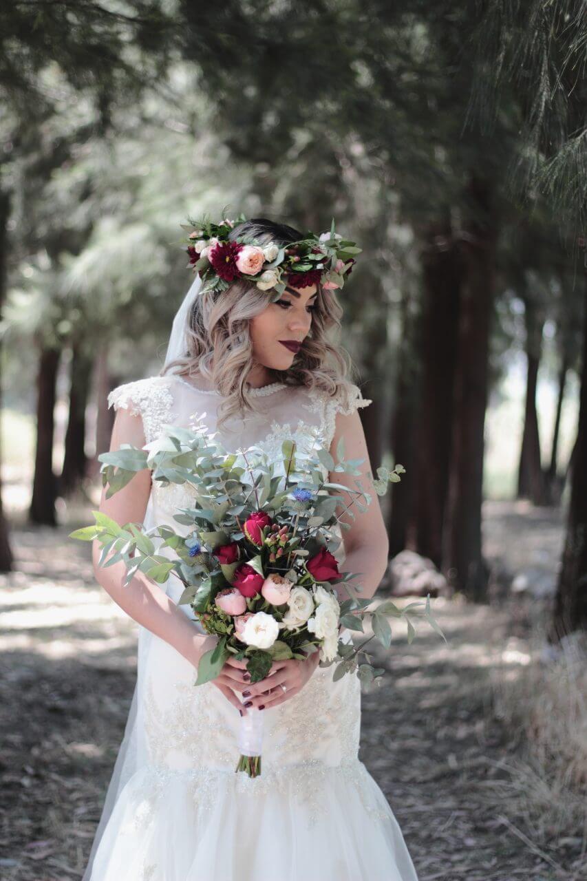 fall wedding gown