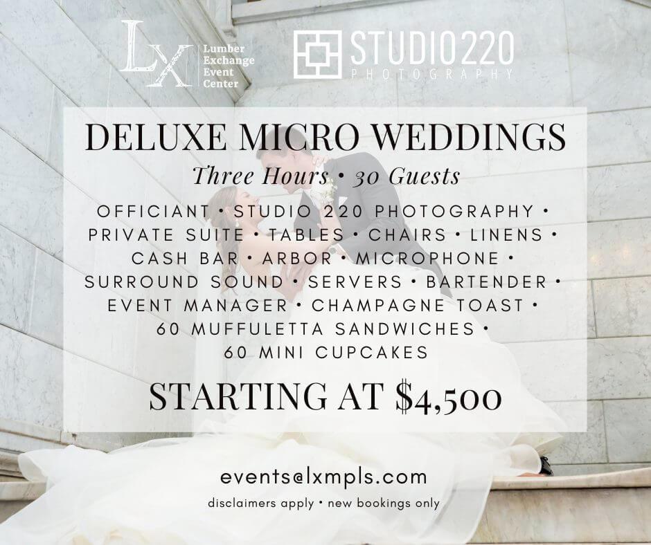 deluxe micro wedding